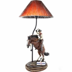Cowboy on Bucking Bronco  Lamp