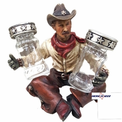 Cowboy Salt and Pepper Holder