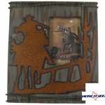 Cowboy with Horse on Wood 4X6 FRAME