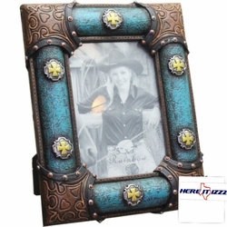 Cross  Concho 5x7 Frame
