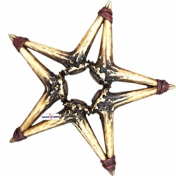 Deer Antler Star Wall Hanging