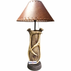 Deer Antler Tree Branch Table Lamp
