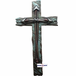 Double Arrow Turquoise Wall Cross