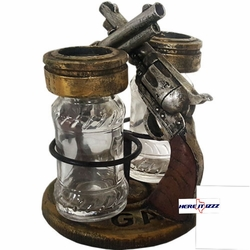 Double Gun Salt And Pepper Holder