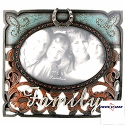 Family Horseshoe Photo Frame 7x5