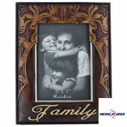 Family Leather Look 5x7 Frame​