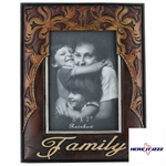 Family Leather Look 5x7 Frame