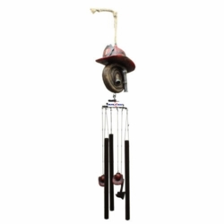 Firefighter Helmet And Hose Wind Chime