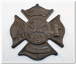 Fireman Firefighter Cast Iron Wall Hanging Trivet