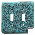 Floral Turquoise Double Switch