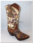 Flower Cowboy Cowgirl Boot Vase