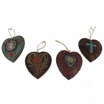 Heart Ornament 4 Piece Set