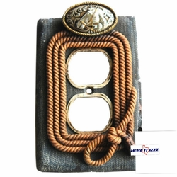 Horsehead Rope Denim Look Outlet Cover