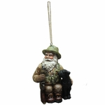 Hunting Santa Claus Christmas Tree Ornament