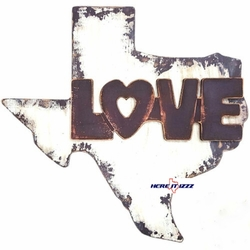 Large Love Texas Wooden Sign