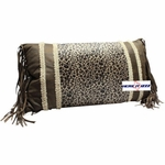 Leopard Fringed  Neck Pillow