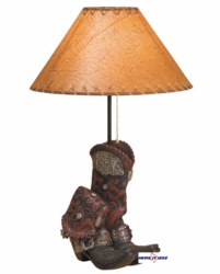 Old West Boot Lamp