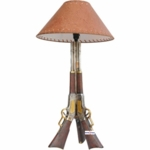 Old West Lever Action Rifle Lamp
