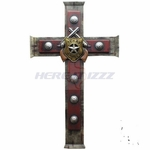 Old West Texas Ranger Pistol Badge Wall Cross