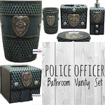 Police Officer Complete Bathroom Vanity Set