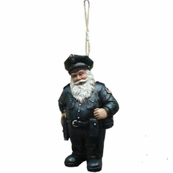 Police Officer Santa Claus Ornament