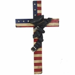 Police Officer U.S. Flag Cross