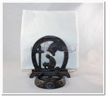 Praying Cowboy Salt and Pepper Shakers Napkin Holder