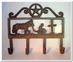 Praying Cowboy Wall Hook Coat Hanger