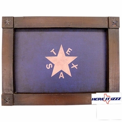 Republic of Texas Flag Framed Art