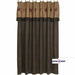Rustic Star Shower Curtain