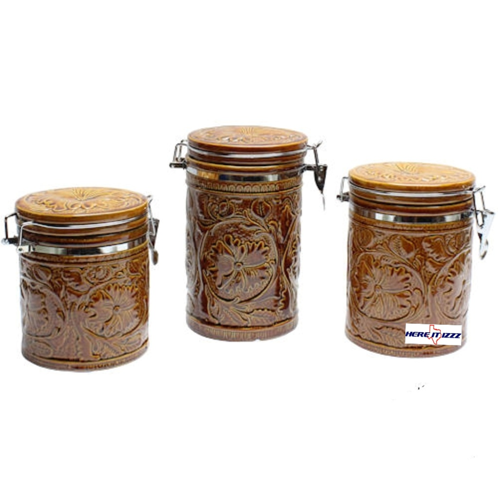 tooled ceramic canister set canister sets for kitchen ceramic fioritura kitchen