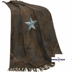 Turquoise   Triple Star  Throw Blanket