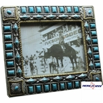 Silver Turquoise Color Stones 8x10 Frame