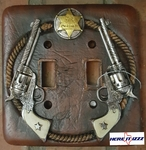 Six Shooter Double Light Switch