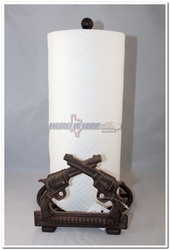 Six Shooter Pistol Paper Towel Holder