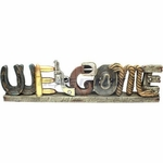Six Shooter Pistol Welcome Self Standing Sign