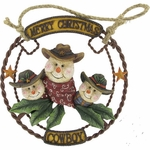 Snowman Western Christmas Wall Decor