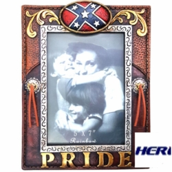 Southern Pride Confederate Flag Picture Frame 5x7