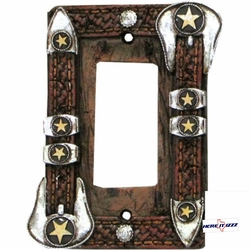 Star Buckle Rocker Switch Cover