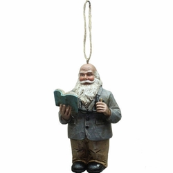Teacher Santa Christmas Ornament