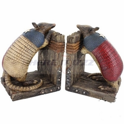 Texas Armadillo Bookends