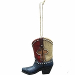Texas Lone Star Cross Boot Ornament