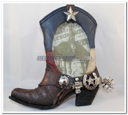 Texas Boot With Spur 4x6 Frame