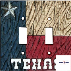 Texas Flag with Star Double  Switch