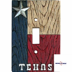 Texas Flag with Star  Single Switch
