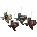 Texas Map Ornament Set