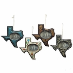 Texas Photo Ornament 4 Piece Set
