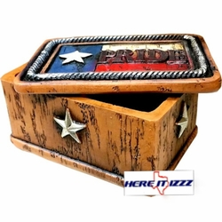 Texas Pride Small Jewelry Trinket Box