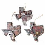 Texas We Don't Dial 911 Ornament Set