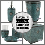Turquoise Concho Bathroom Collection